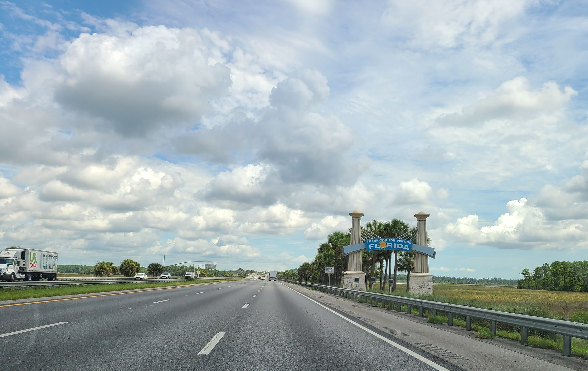 Driving out of Florida