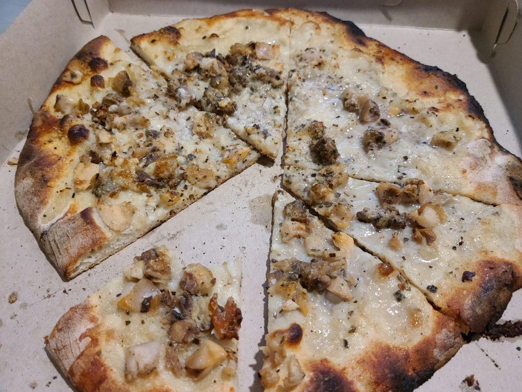 White Clam Pizza from Pepe's