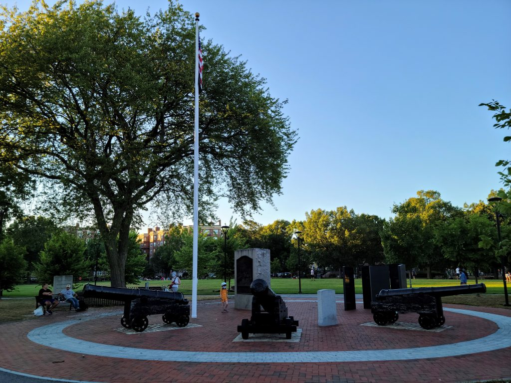 Monuments to Revolutionary War in Cambridge Common