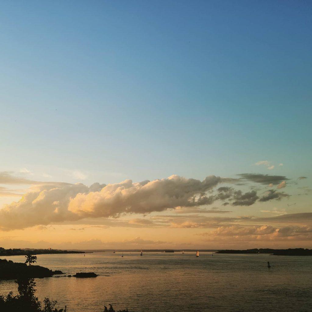 Sunset over Casco Bay