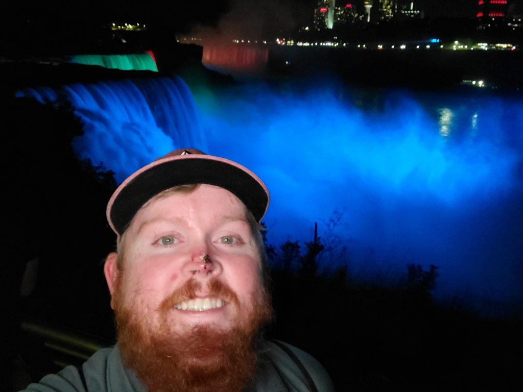 Me at Niagara Falls at night