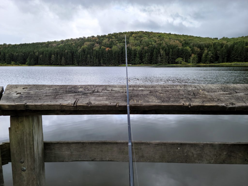 Fishing at Spruce Knob Lake