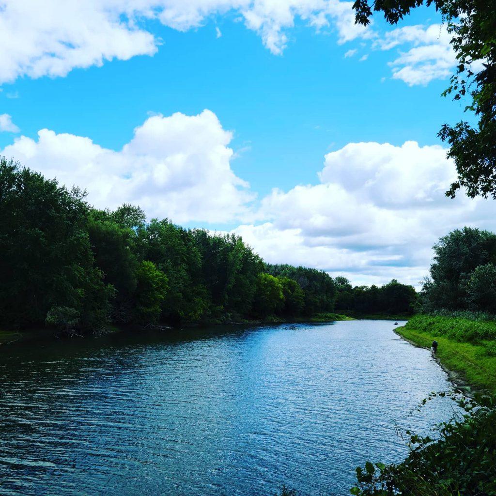 Walking along Winooski River